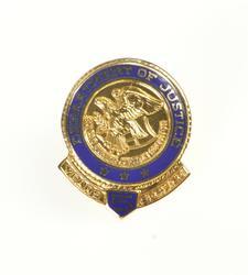 10K Yellow Gold Department of Justice DOJ 5 Five Year Lapel Pin/Brooch