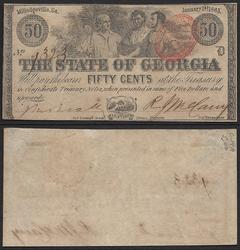 Fifty Cent Obsolete State of Georgia Milledgeville