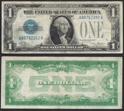 $1 1928 First of the small size Silver Certificates