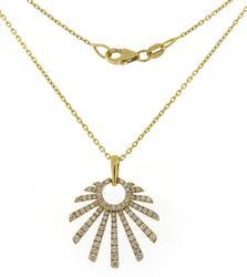 Fabulous 18kt Frederic Sage Mini Retro Sun Necklace