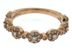 Strong Rose Gold Gabriel & Co Alternating Bezel Diamond