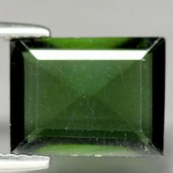 Flat Cut! 2.93ct rich green Nigerian Tourmaline