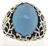 Sterling Silver Blue Stone Ring