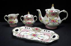 Tray, Sugar Creamer and Tea Pot S/5