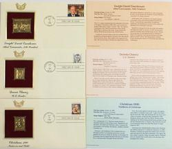 Golden Replicas of US Stamps