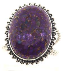 Vintage Purple Gemstone Sterling Silver Ring