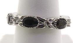 Sterling Silver Gemstone Band Ring