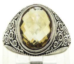 Vintaeg Sterling Silver Citrine Ring