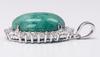 Glittering Emerald & White Sapphire Pendant, Sterling
