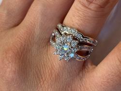 Rhodium plated triple Quality Ring