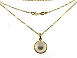 Fabulous Pearl Yellow Gold Necklace