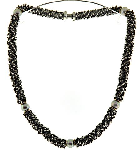 Michael Dawkins Pearl Station Sterling Silver Necklace