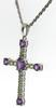 Fantastic White Gold Mystic Topaz Cross Necklace