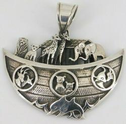 Sterling Silver Noah's Ark Pendant