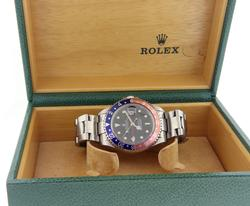 Rolex GMT Master Red Blue Pepsi Bezel Watch