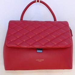 Seductive Red Color Bag By David Jones, Paris