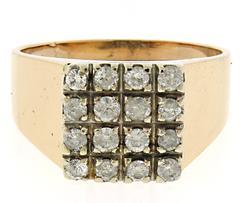 Gents 18kt RBC Square Diamond Ring