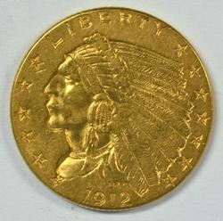Super nice 1912 US $2.50 Indian Gold Piece