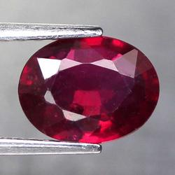 Glittering blood red 2.01ct oval cut Ruby