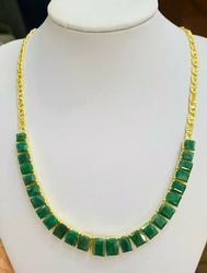Amazing 18kt Gold & Emerald Necklace!