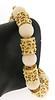 Masterpiece Coral Bead & Gold Station Bracelet