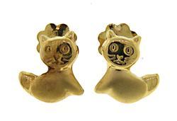 Lovely 18kt Kitten Stud Earrings