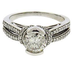 Charming White Gold Diamond Ring