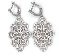 Sparkling Sterling Silver Dangle Earrings