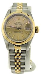 Rolex Ladies Datejust Champagne Dial Watch