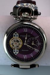 Mens Stuhrling Automatic Plum Dial with Date