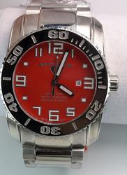 Mens Swiss Legend Automatic Red Dial