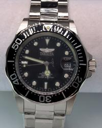 Mens Invicta Automatic Steel w Black Dial
