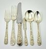 Timeless and Classic 57 Piece Kirk Repousse Sterling Flatware Set