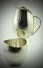 Modern Sleek and Simplistic Stieff Sterling Creamer and Sugar