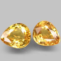 Excellent 1.12ct pair of golden Songean Sapphires