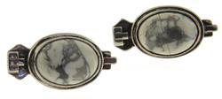 Vintage Sterling Silver Howlite Earrings