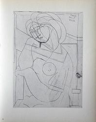 PABLO PICASSO, SEATED NUDE