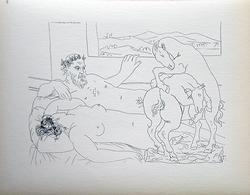 PABLO PICASSO, RECLINING SCULPTOR