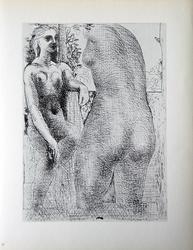 PABLO PICASSO, MODEL AND SCULPTURED FEMALE TORSO