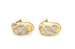 LADIES DIAMOND EARRINGS CRAFTED IN SOLID GOLD