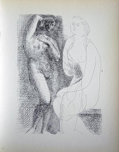 PABLO PICASSO, NUDE BEFORE A STATUE
