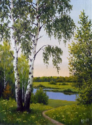 Highly Detailed Landscape Scene By Russian Artist Maksim