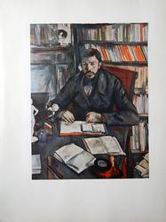 PAUL CEZANNE, PORTRAIT OF GUSTAVE GEFFROY