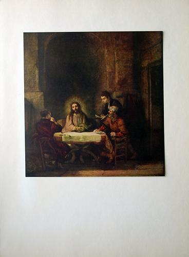 VAN RIJN REMBRANDT, CHRIST AT EMMAUS