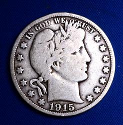 1915 BARBER 50C KEY DATE