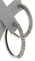 Sparkling White Gold 1.50ctw Diamond Hoop Earrings