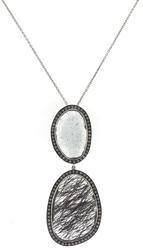 Fashionable Aquamarine w Rutliated Quartz Necklace