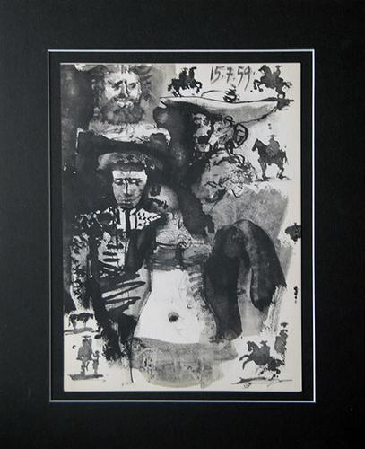 PICASSO LITHOGRAPH FROM 'TOROS Y TOREROS' CIRCA 1962