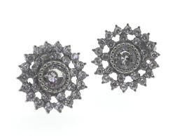 Cubic Zirconia Stainless Steel Earrings