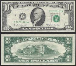 $10 1969-A Gutter Fold thru Hamiltons Portrait